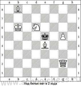 Ход белых мат в 2 хода 10