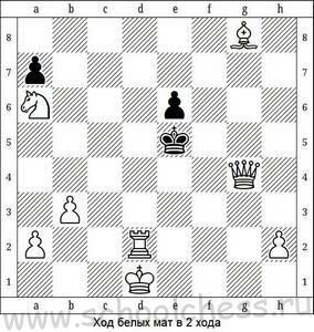 Ход белых мат в 2 хода 2