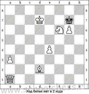 Ход белых мат в 2 хода 4