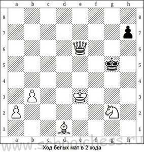 Ход белых мат в 2 хода 5