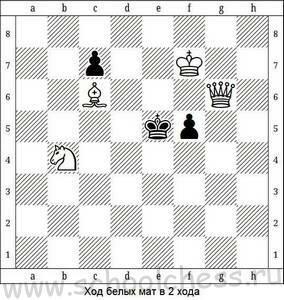 Ход белых мат в 2 хода 8