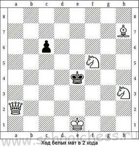 Ход белых мат в 2 хода 9