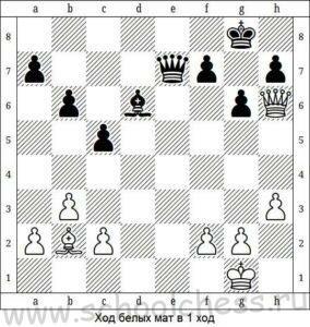 Ход белых мат в 1 ход 1