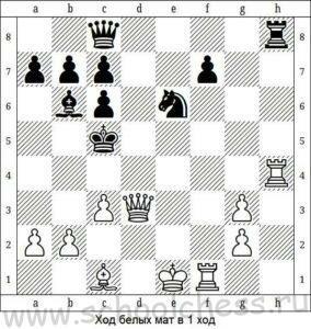 Ход белых мат в 1 ход 3