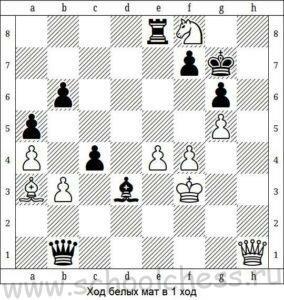 Ход белых мат в 1 ход 6