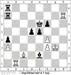 Ход белых мат в 1 ход 8