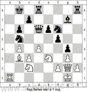 Ход белых мат в 1 ход 9