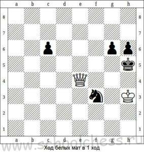 Шахматы мат в 1 ход 1