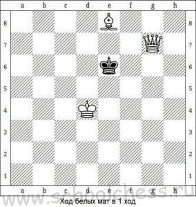 Шахматы мат в 1 ход 4